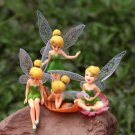 4pcs Set Miniature Fairy Angle Girls Figurine Toy Fairy Garden Accessories Decor