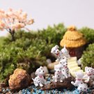 6PCS Mini Spotted Dog Figure Fairy Garden Accessories, Miniature Minions Figurin