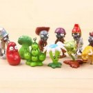 10pcs Set  Figurine Plants vs Zombies PVC Action Figures Collectibles Toys Game
