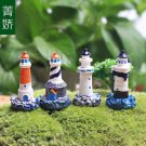 4PCS lighthouse tower Figure Toy Display Fairy Garden Landscape Terrarium Decor