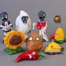 8pcs Set  Figurine Plants vs Zombies PVC Action Figures Collectibles Toys Game D