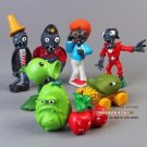 8pcs Set  Figurine Plants vs Zombies PVC Action Figures Collectibles Toys Game