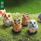 4PCS Owl Figure Fairy Garden Accessories, Miniature  DIY  Terrarium Suppliers