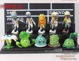 10pcs Set  Figurine Plants vs Zombies PVC Action Figures Toys Game Collectibles