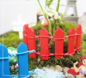 5x Fairy Garden Accessoriess fence,Moss Suppliers,Mini Decoration, Terrarium