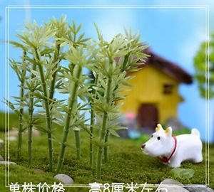 5X bamboo Figure Fairy Garden Accessories, Miniature Figurines DIY Dollhouse PVC