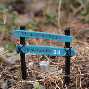 ZAKKA Fence Bucket Landscape Fairy Garden Miniature Dollhouse Figurine Toy Decor