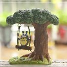 My neighbor totoro Swings Tree Figure Fairy Garden Toy Landscape Display Decor