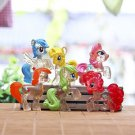 6pc Set My little Pony Collectibles Figure Toys Garden Fairies Dollhouse Decor