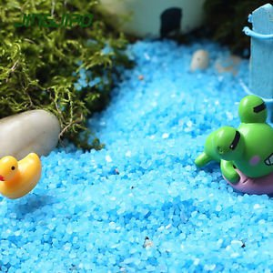 40g Blue Sand Mini Pebbles Stones For Fairy Garden Dollhouse Succulent Suppliers