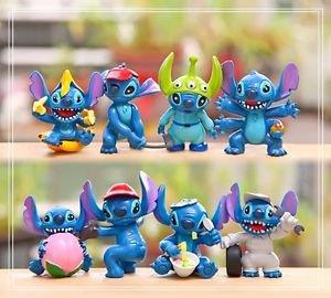 8pcs Set Mini Figures Stitch Toys Collectibles Fan Gift Display Garden Fairies