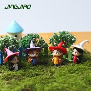 4PCS Forest witch Figure Fairy Garden Miniature Minions Terrarium Suppliers Toys