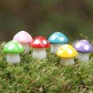 10 Mixed Spotted Mushroom figure fairy garden miniature Terrarium Decor
