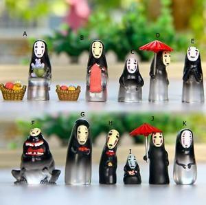 Spirited away No Face Men Figure Fairy Garden Miniature Terrarium Toys Decor