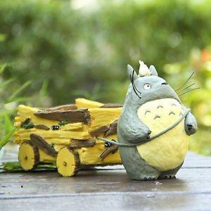 Totoro Large Car Set Pen container/ Plants FlowerPot Fairy Garden Figure Display