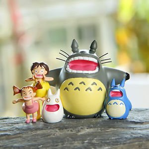 5pc Set Totoro May Shouting Scenario Figure Toy Fairy Gardens Dollhouse Decor