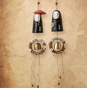 Spirited Away No face ghost Wind chime Bedroom Wall Handing Figure Display Home