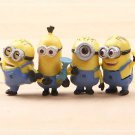 4pcs Set Mini Figures Despicable Me Toys Collectibles Fairy Garden Accessories