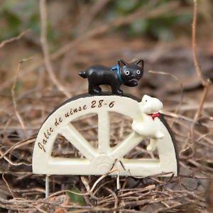Cat Wheel Micro Landscape Fairy Garden Succulent Dollhouse Figure Toy Decor