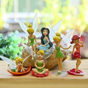 6pc Set Fairy Girls Collectible Toys Figure Fan Gift Fairy Garden Miniatures