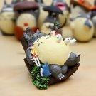 Tonari no Totoro Sisters on Sleeping Cat Tree Figure TOY Fairy Garden Miniature