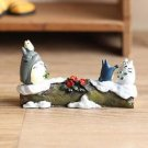 My neighbor totoro Theater Ver. Figure Season Winter Fairy Garden Display Toy