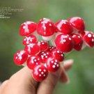 10 Red Mushroom figure fairy garden miniature mini Terrarium Succulent Decor