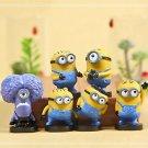 6pcs Set Mini Figures Toys Despicable Me  Collectibles Fans gift Garden Decor