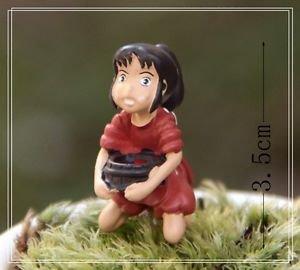 Spirited away Server Girl Figure Toy Desk Decor Fairy Garden Decor Miniature