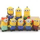 8pcs Set Mini Figures Despicable Me Toys Collectibles Fans gift Garden Decor