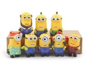 8pcs Set Mini Figures Despicable Me Toys Collectibles Fans gift Garden Decor