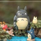 4pc My neighbor totoro Fishing Sister Figure Toy Fairy Garden Miniature Decor