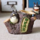 1pc Forest Tree Stump Totoro Figures Brush pot pen container Desk Stationery