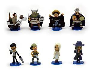 8pcs Set Mini Figures One Piece Luffy Collectibles Toys Desk Décor Fairy Garden