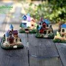 4XMini Villa Castle House Fairy Garden Accessories, Mini Dollhouse Figure Decor
