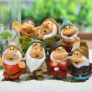 7 Disney Snow White Dwarfs Figure Toy Garden Dollhouse Collectibles Decor Gift
