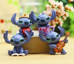 4 Stitch Figure Mini Garden Figurine Gardening Suppliers Fairy Garden Toy Gift