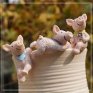 3pc Pig Mini Figurine Fairy Garden Miniature Terrarium Decoration Home decor