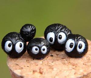 10pcs Set Coal dust Ball Spirited Away Figure Fairy Garden Accessories Mini Toy