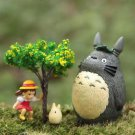 4pc Set Mei Tree Totoro Figurine Figure toy Fairy Garden Succulent Display Decor