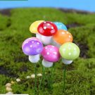 10 Mixed Colorful Mushroom figure fairy garden miniature  Succulent Decoration