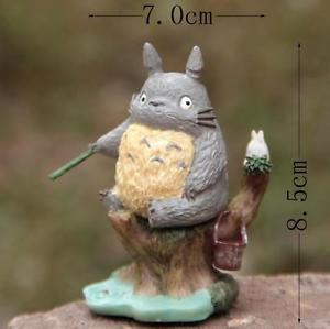 Fishing Totoro on Tree Figure Display Home Decor TOY Fairy Garden Display Decor
