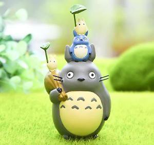 Home Decor pyramid building Totoro Plants Fairy Garden Accessories Miniature