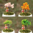 4x cherry tree Peach tree Gardener Artificial Trees Zakka  Garden Mini Decor