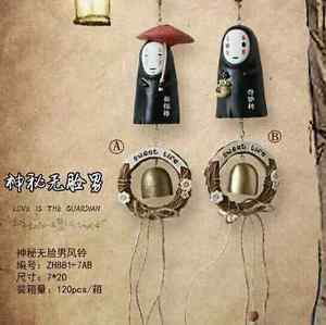 2X Spirited away Wind chimes No Face Men Figure Creative Gift Home Decor Bedroom