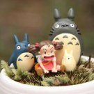 4pc Sitting Mei Totoro Figurine Home Decor Ornaments Fairy Garden Miniature Toys