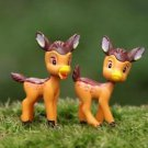 2xZakka Mini fawn Bambi Fairy Garden  Miniature Fairies Plants Decor Figure Toy