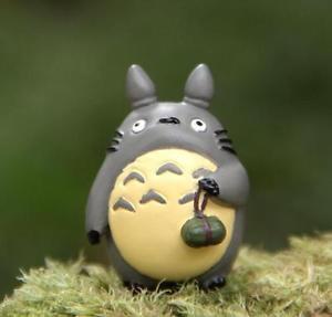 Totoro w/ Rice-pudding Home Decor Ornaments Fairy Garden Figure Toy Decor