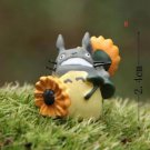 ZAKKA Home Decor sunflower Totoro Fairy Garden  Miniature Figurie Toy Decor