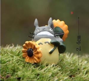 ZAKKA Home Decor sunflower Totoro Fairy Garden  Miniature Figurie Toy Decor